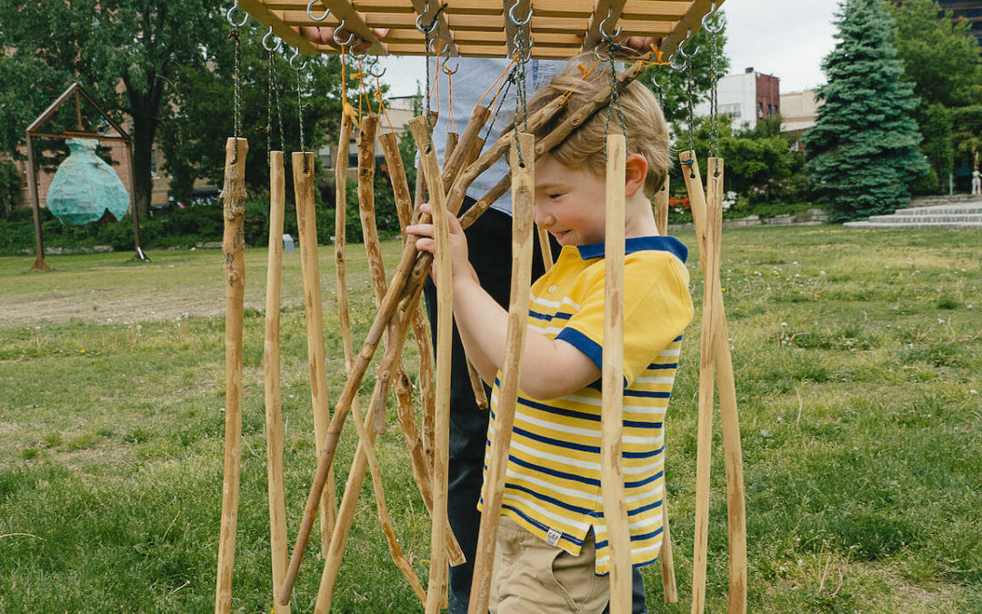 5 No-Cost Super Easy Outdoor Sensory Play Ideas for Slowing Down with Children